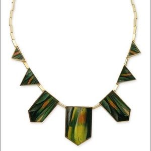 House of Harlow 1960 Feather Station Necklace